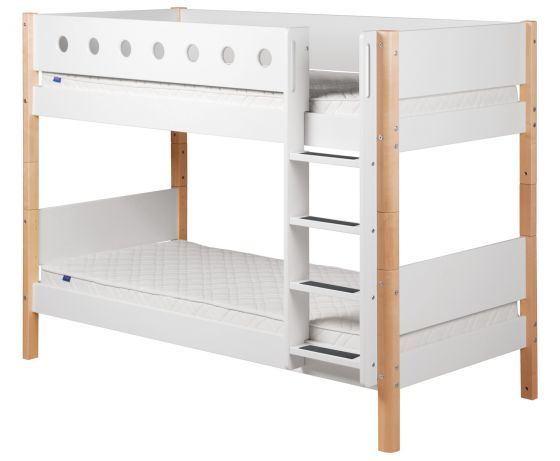 Etagenbett Leiter Schutz : Flexa white etagenbett mit senkrechter leiter weiß möbel letz