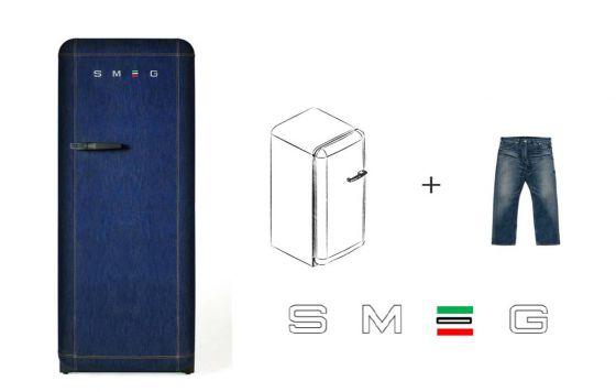 Smeg Kühlschrank Schwarz Matt : Smeg fab rdb a denim jeans retrokühlschrank online kaufen