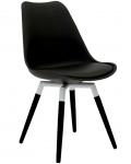 Olbia Retro Style - Stuhl Schwarz
