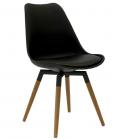 Olbia Retro Style - Stuhl Schwarz/ Eiche