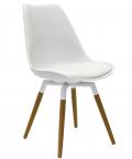 Olbia Retro Style - Stuhl Weiß/ Eiche