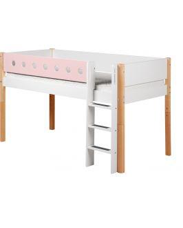 White - Halbhohes Bett - 200 cm