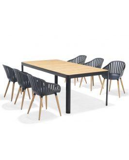 Set - Gartentisch - Salina 210 cm - 7-teilig