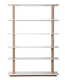 High on Wood - Bücherregal Weiß Hochglanz