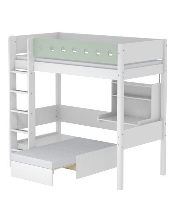 White - Hochbett mit Sofabett - 200 cm