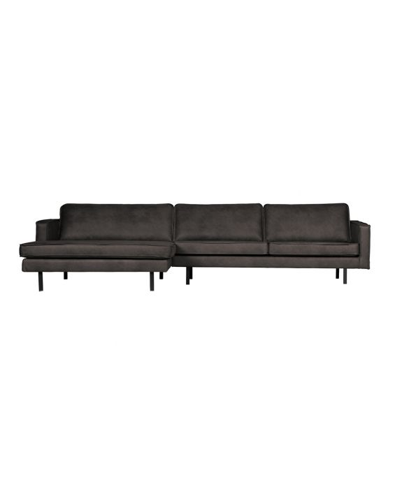 Sofa - Rodeo Recamiere Links - Schwarz