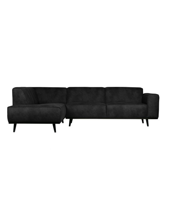 Ecksofa - Statement Recamiere Links - Schwarz