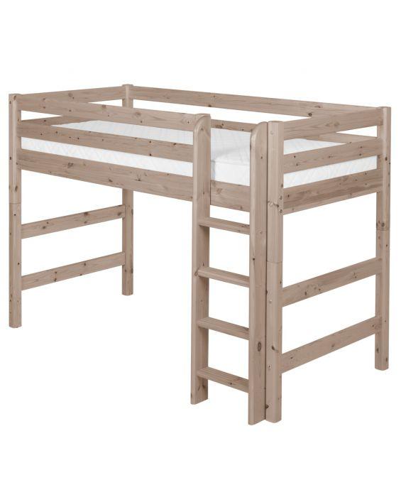 Classic - Mittelhohes Bett mit Leiter - 200 cm