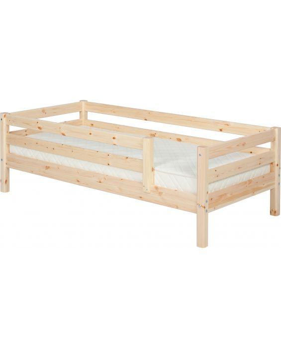 Classic - Einzelbett  - 190 cm mit  3/4 Absturzsicherung - Natur