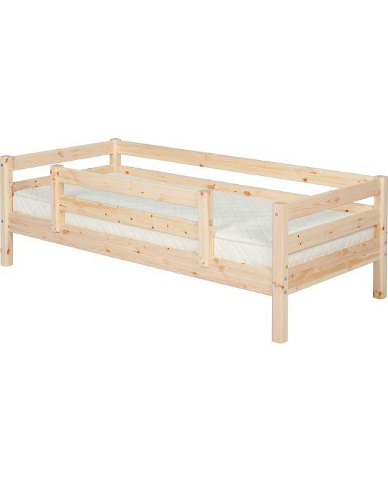 Classic - Einzelbett  - 190 cm mit 1/2 Absturzsicherung - Natur