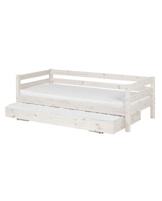 Classic - Einzelbett  - 200 cm mit Ausziehbett - Weiß