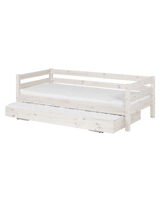 Classic - Einzelbett  - 190 cm mit Ausziehbett - Weiß
