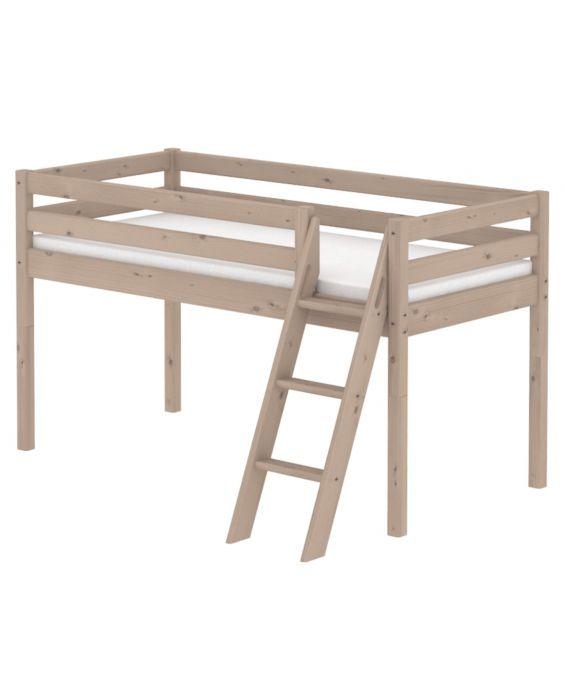 Classic - Halbhohes Bett mit Leiter - 190 cm