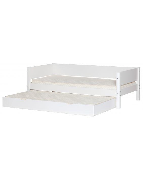 White - Einzelbett mit Ausziehbett - 190 cm