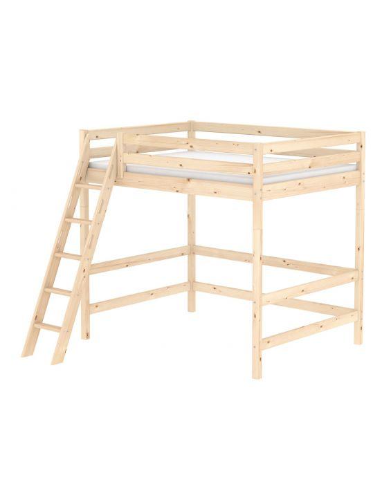Classic - Hochbett mit schräger Leiter - 140x200 cm