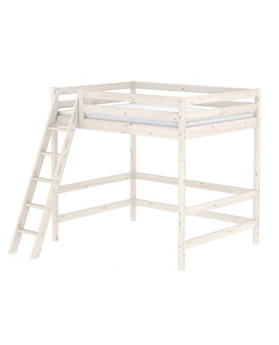 Classic - Hochbett mit schräger Leiter - 200 cm