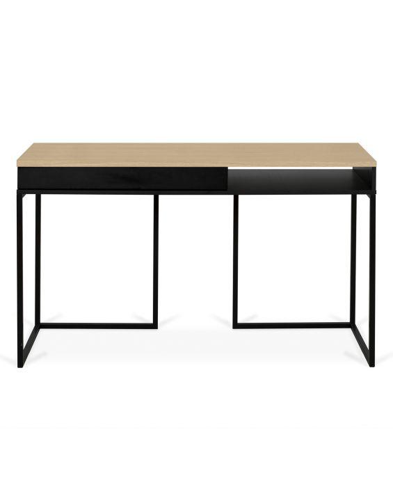 Schreibtisch - City - Schwarz/ Eiche