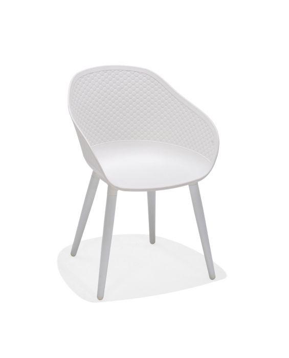 Gartenstuhl Norman - Weiß