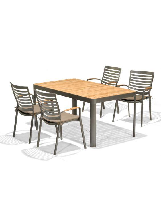 Set - Salina Gartentisch 160x95cm