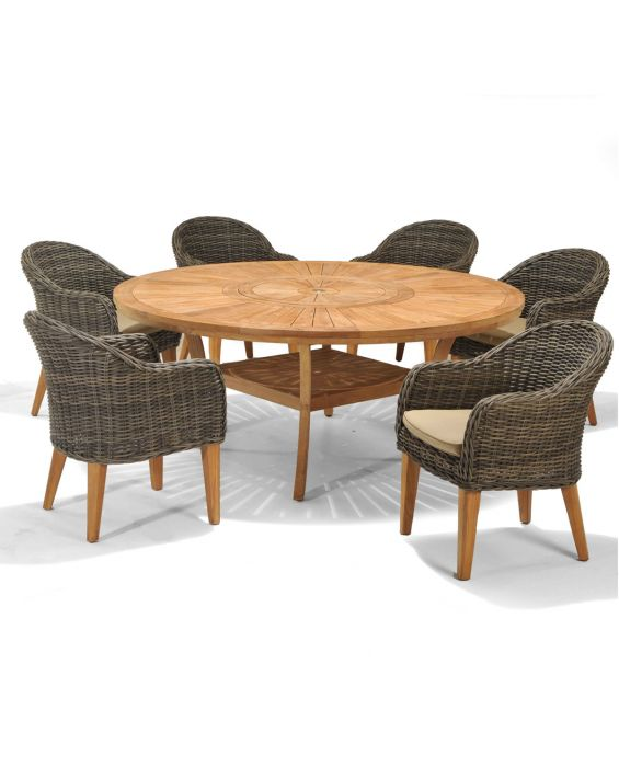 Set – Luna Gartentisch 2.0 180cm – 7-teilig