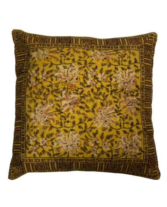 Indian Block - Kissen - Groß - Gelb