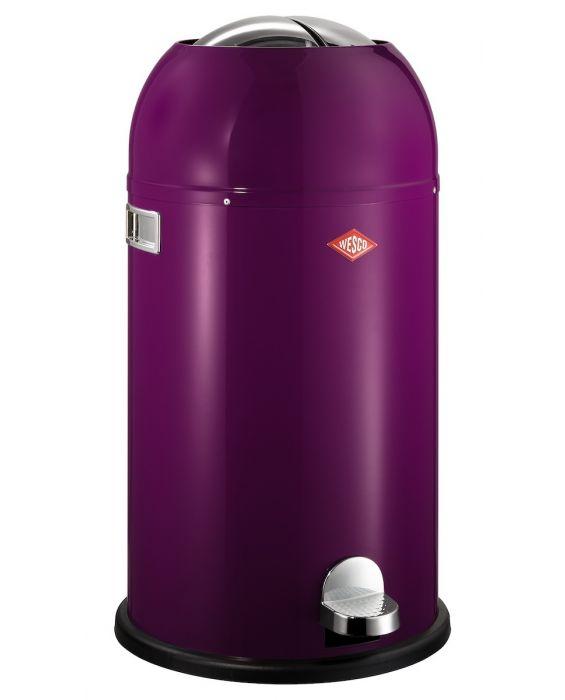 Kickmaster - 33 Liter - Mülleimer - Brombeer