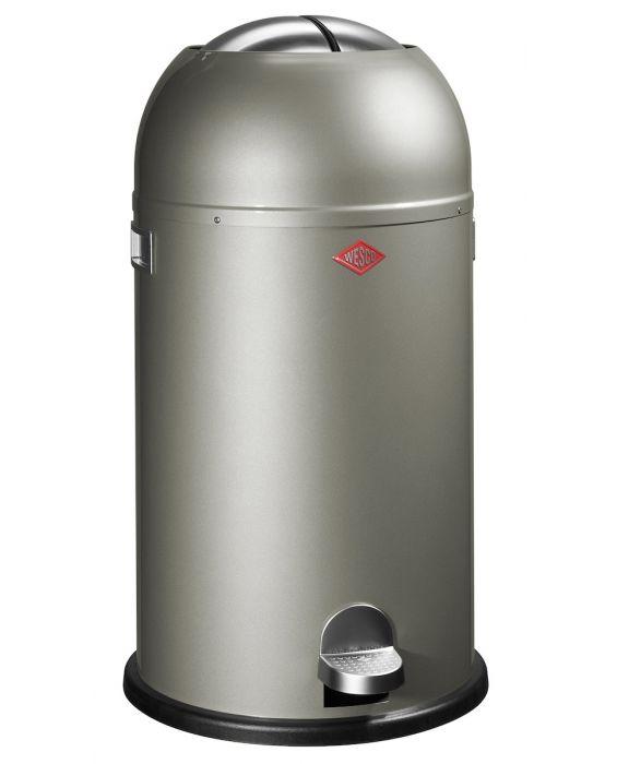 Kickmaster - 33 Liter - Mülleimer - Neusilber
