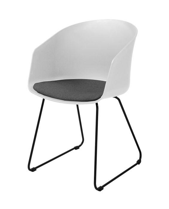 Armlehnstuhl - Montreal - Weiß/ Schwarz