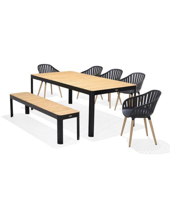 Set - Gartentisch mit Bank - Salina 210 cm