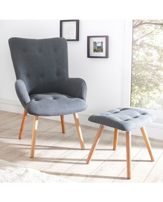 Sessel inkl. Hocker - Nordland