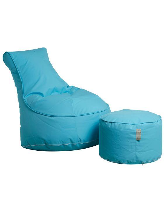 Outdoor Sitzsack Sessel mit Pouf - Chill