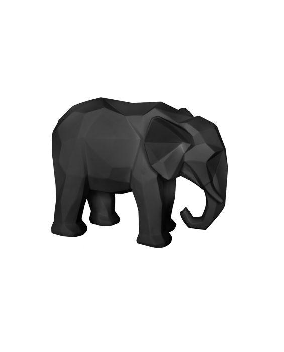 Origami - Elefant - Schwarz