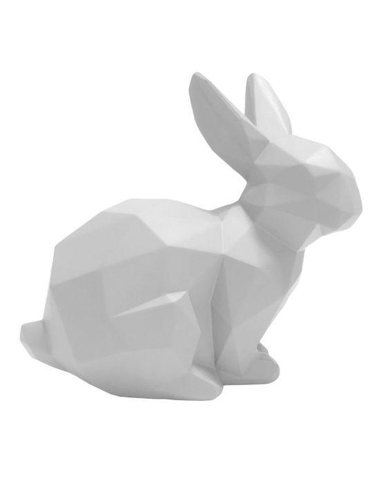 Origami - Hase sitzend - Weiß