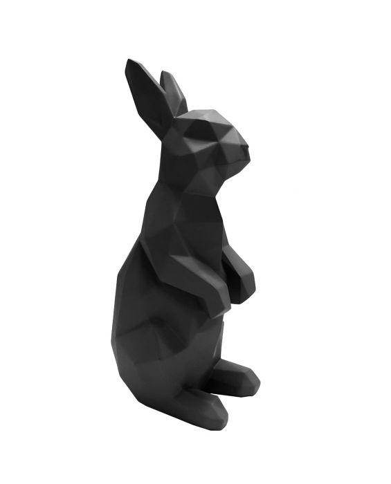 Origami - Hase stehend - Schwarz