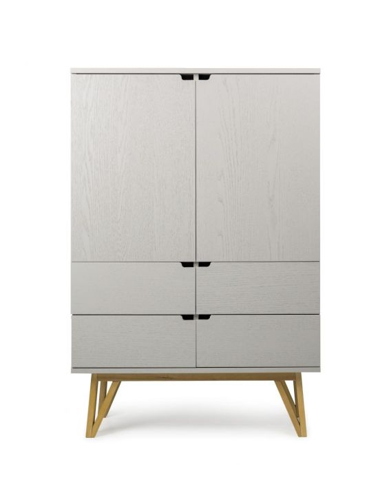 Pure Grey -  Highboard