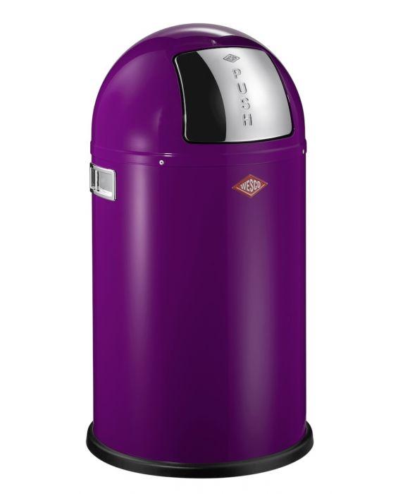 Pushboy - 50 Liter - Mülleimer - Brombeer