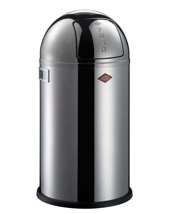 Pushboy - 50 Liter - Mülleimer - Edelstahl