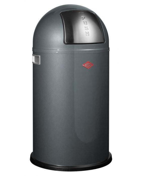 Pushboy - 50 Liter - Mülleimer - Graphit