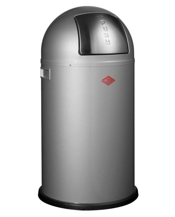 Pushboy Jun. - 22 Liter - Mülleimer - Silber