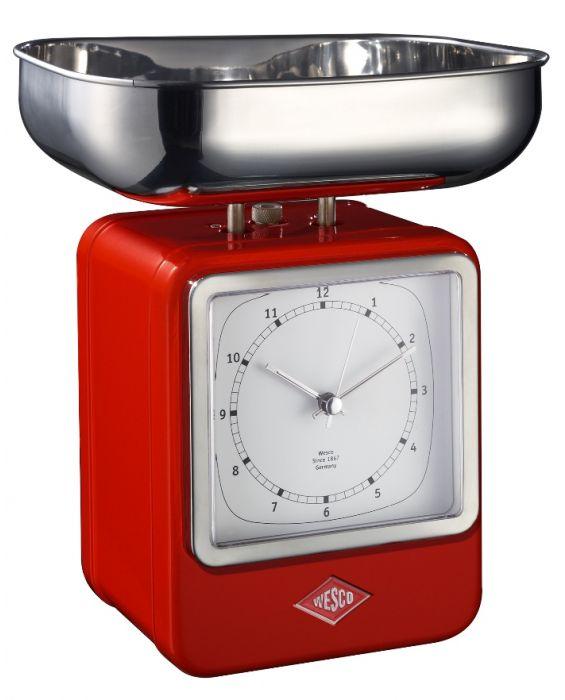 Retro - Küchenwaage mit Uhr