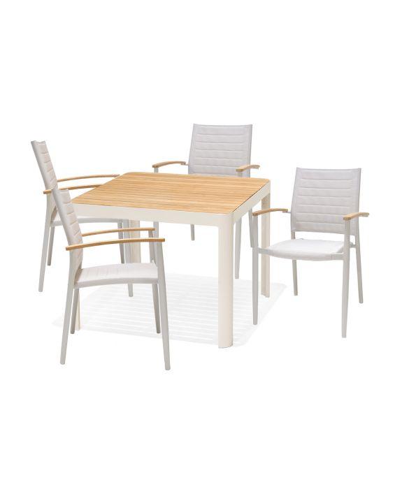 Set - Salina Gartentisch 5-teilig