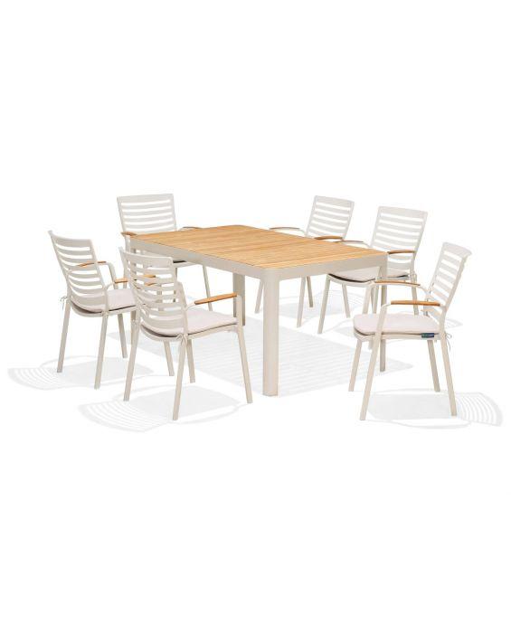 Set - Salina Gartentisch 7-teilig