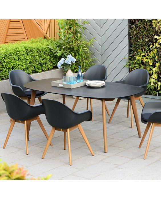 Set - Sol Gartentisch 7-teilig
