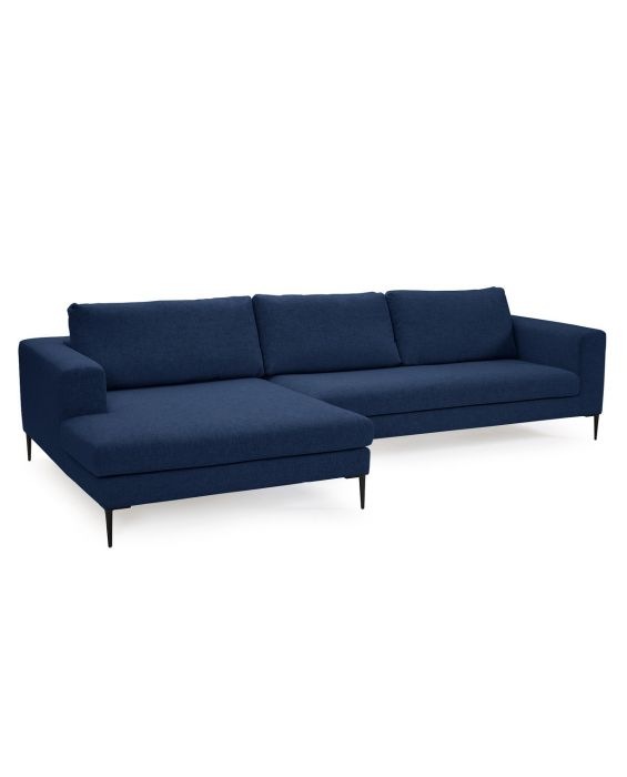 Ecksofa - Nordin - Recamiere Links - Deep Blue