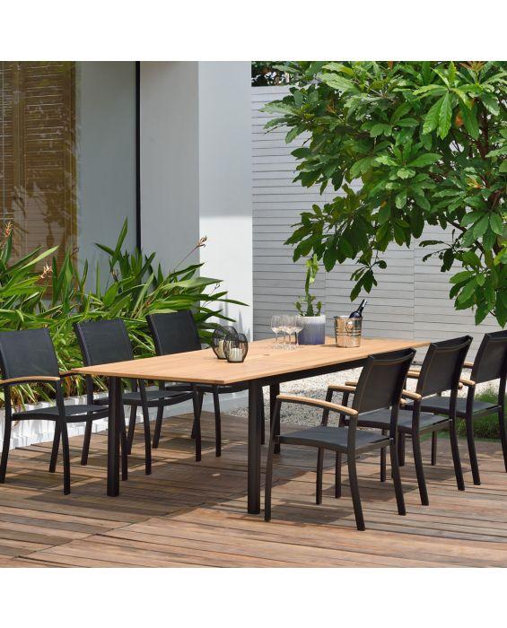 Set - Salerno Gartentisch 7-Teilig